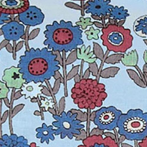 Les Oiseaux Blue Garden Cotton Voile from Frou Frou
