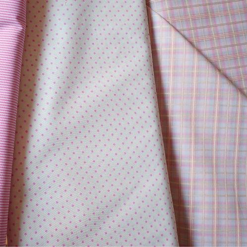 Pink Sherbet Cotton Plaid Broadcloth