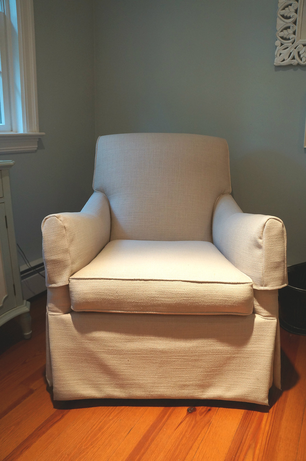 Chair with finished covers