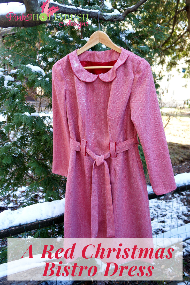 Red Christmas Bistro Dress to Sew