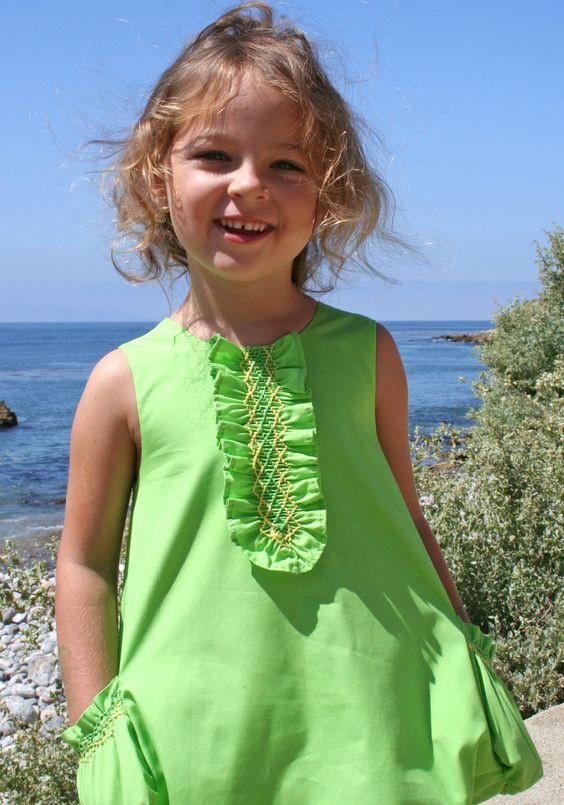 Little Girl's smocked dress