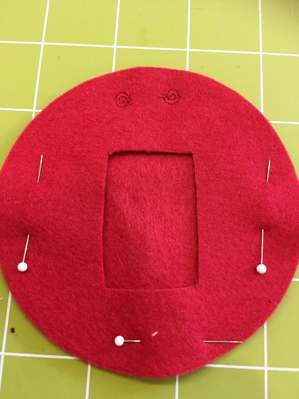 Felt Circles with Buttonholes