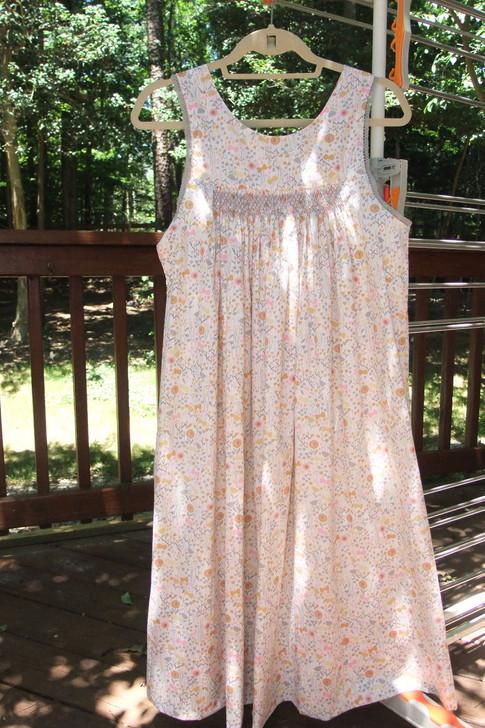 Dawn Smocked Nightgown