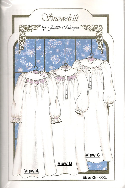 Snowdrift Ladies Smocked Nightgown Sewing Pattern