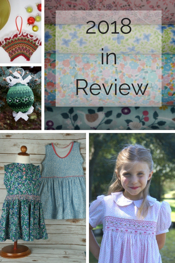 2018 sewing in review