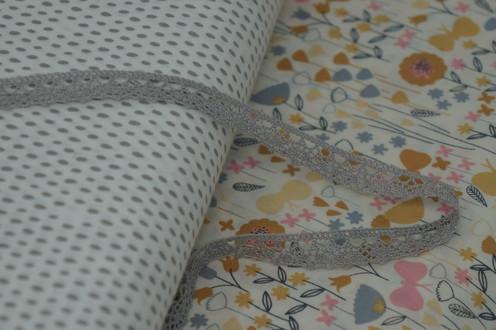 Gray Cotton Crochet Lace Trim