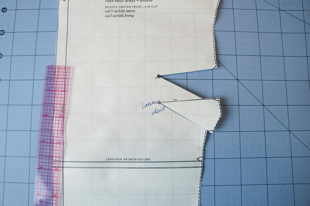 Lowering the dart step 2