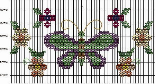Butterfly and flowers smocking plate