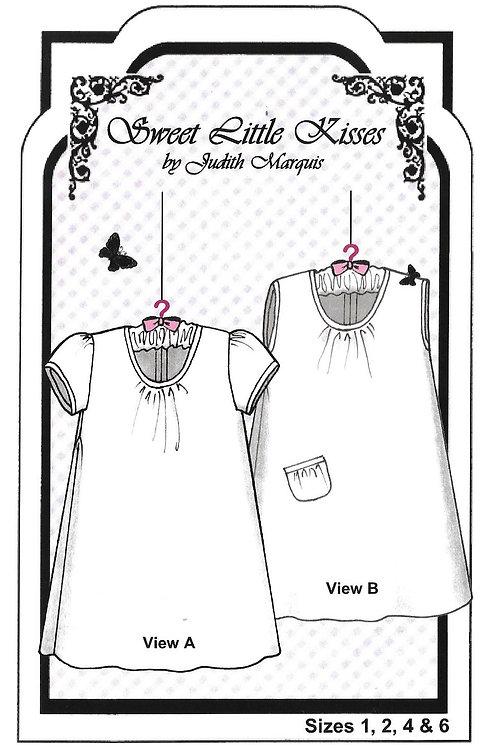 Sweet Little Kisses Girl's Knit Dress Pattern
