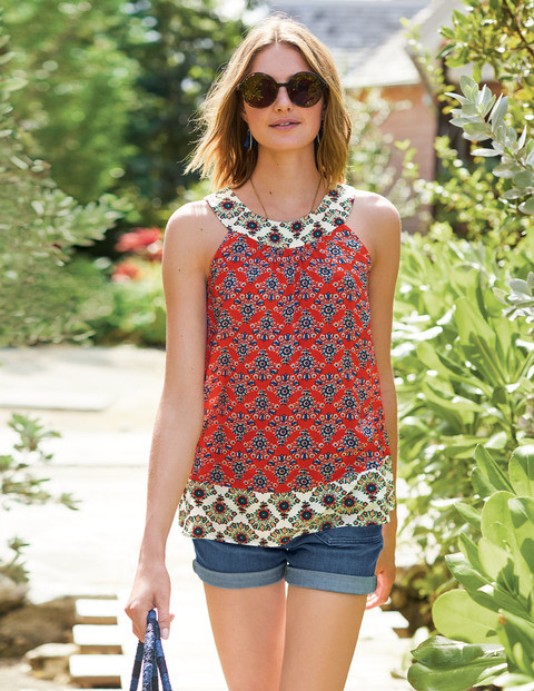Mixed print top from Boden