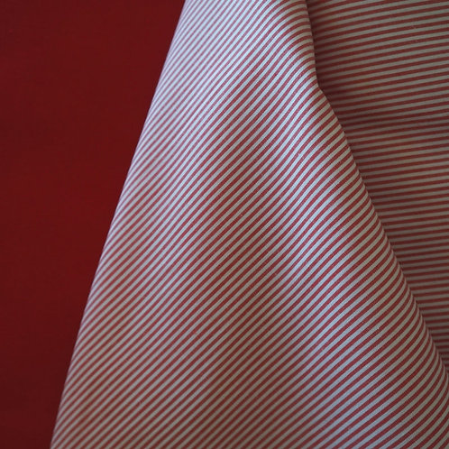 Red Striped Cotton Broadcloth
