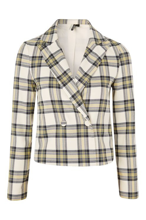 Topshop plaid jacket
