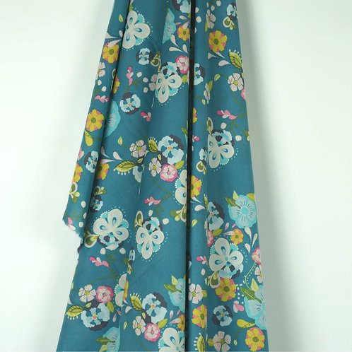 Floral Floats Cotton Voile by Art Gallery