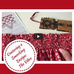 Video on Centering a Smocking Design
