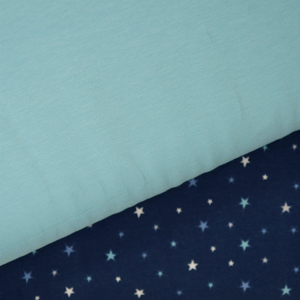 Starry Night and Aqua Fabrics