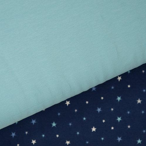 Aqua Solid Organic Knit Fabric