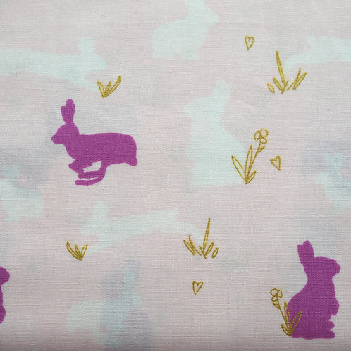 Bunnies Cotton Poplin by Art Gallery