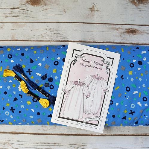 Flotsom & Jetsam Baby's Breath Pre-Pleated Smocked Bunting Kit
