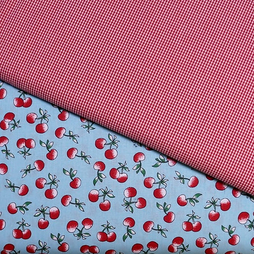 Cherries Cotton Broadcloth Fabric