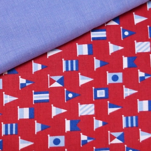 Nautical Flags Cotton Broadcloth