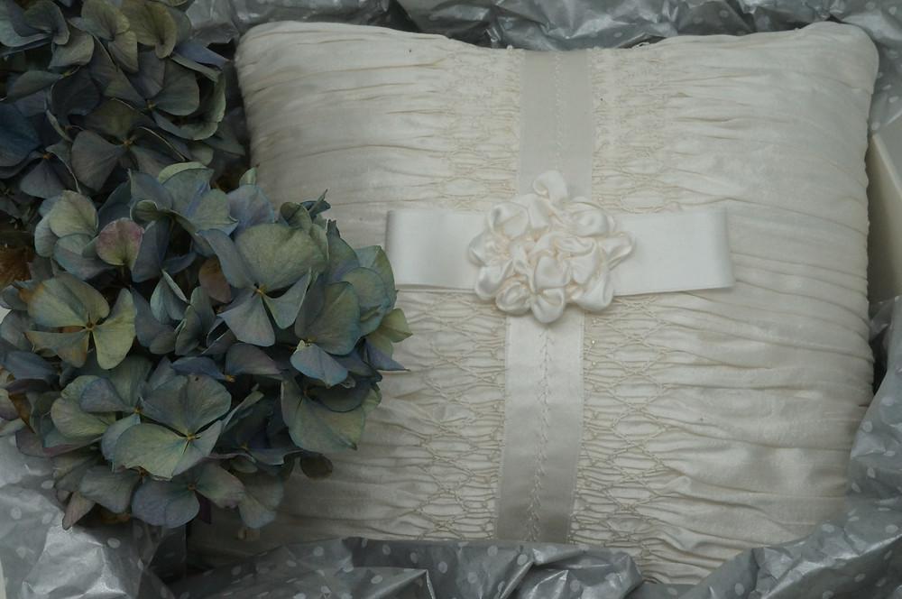 Smocked Ring Bearer's Pillow
