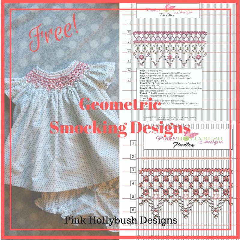 Free Geometric Smocking Designs