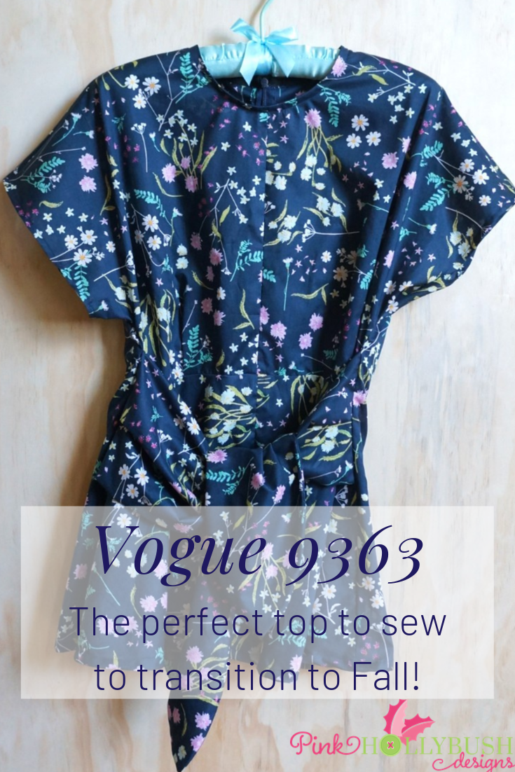 My finished Vogue sewing pattern 9363| Pink Hollybush Designs