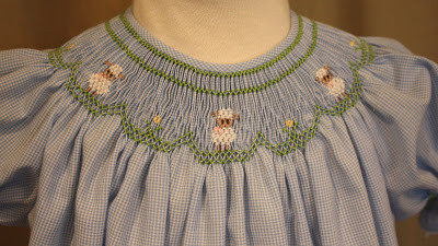 Emma's Lambs smocking plate