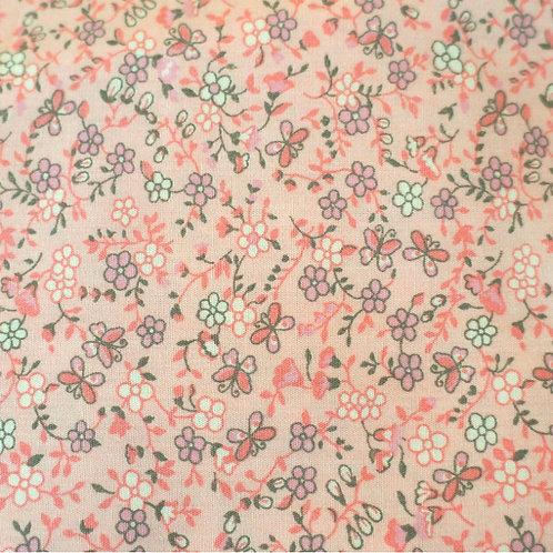 Gray Butterflies Cotton Broadcloth