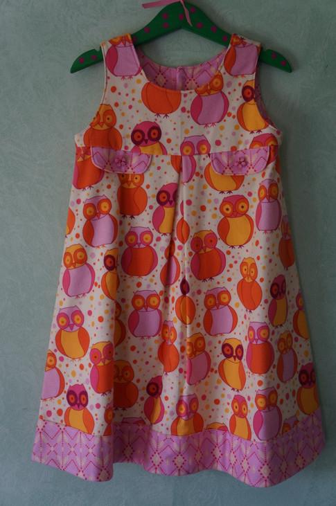 Little Owl Flannel Dress