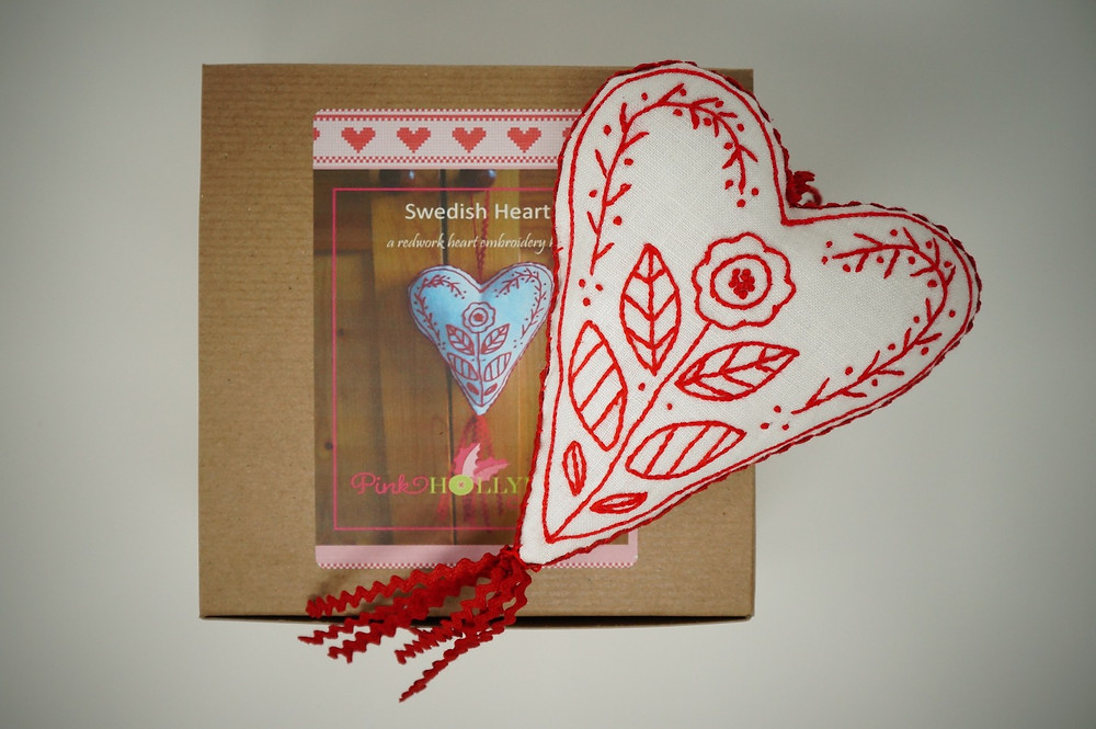 Swedish Heart Embroidery Kit