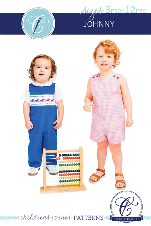 Johnny Smocked Romper and Shirt Pattern
