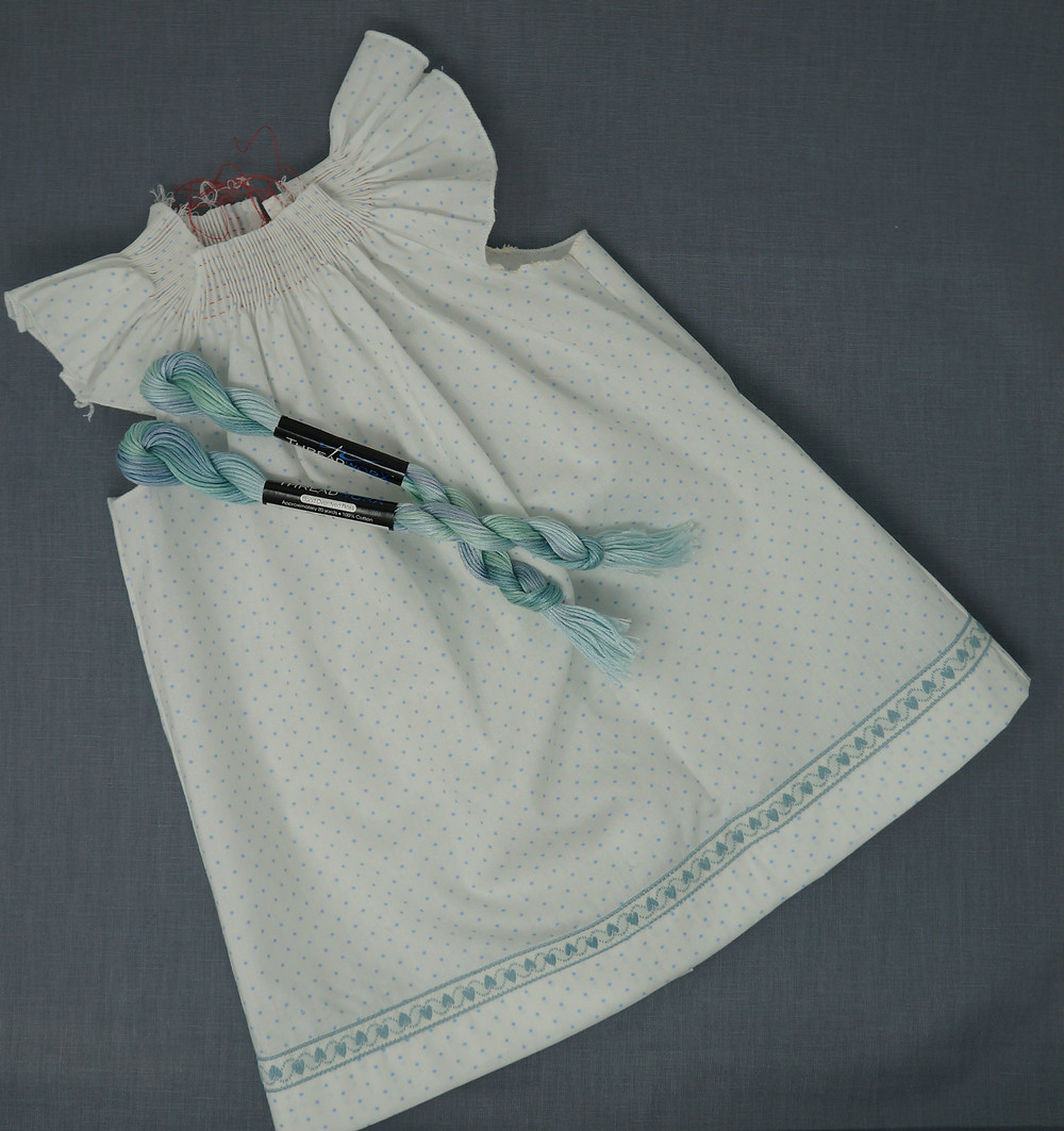 Wee Care Gown and matching variegated floss