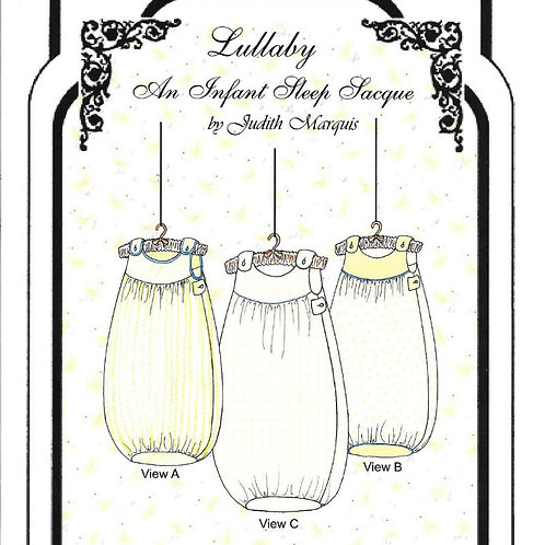Lullaby, Infant Sleep Sacque Sewing Pattern