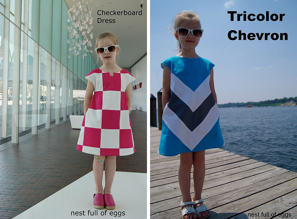 Color blocked Roller Skate dresses