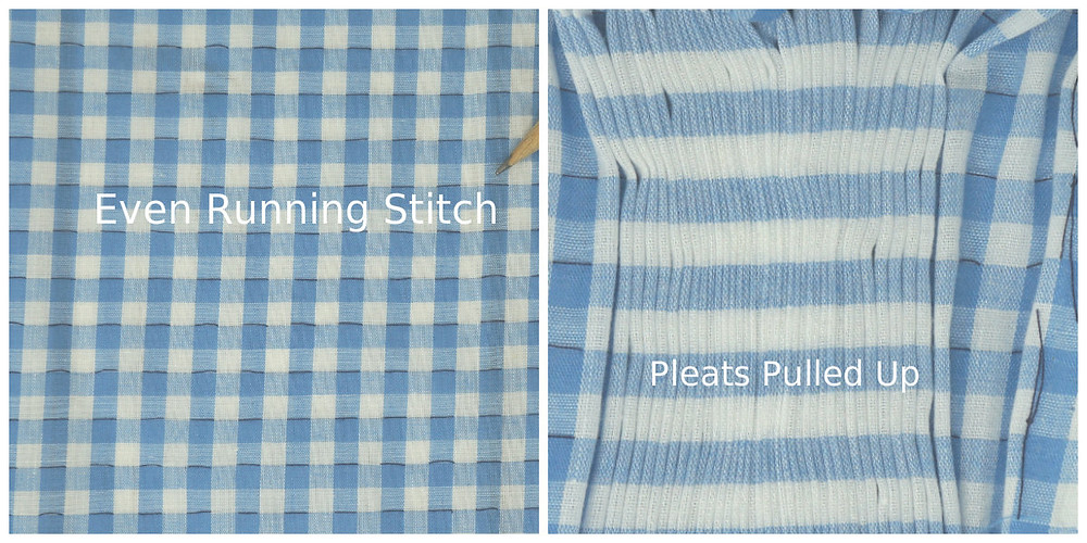 Hand pleated Gingham