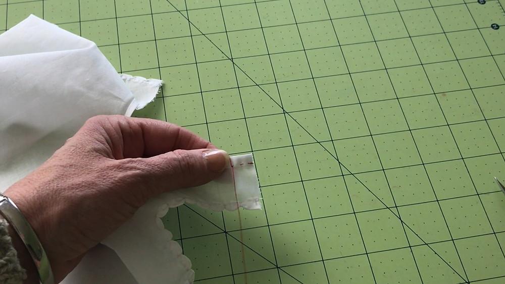 Wrap thread over the top