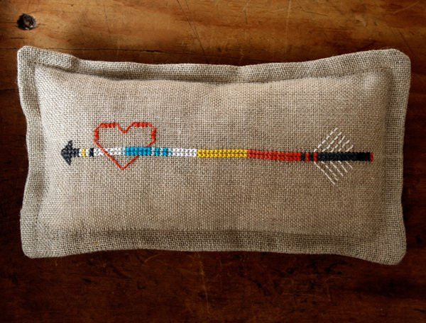 Heart and Arrow Pincushion