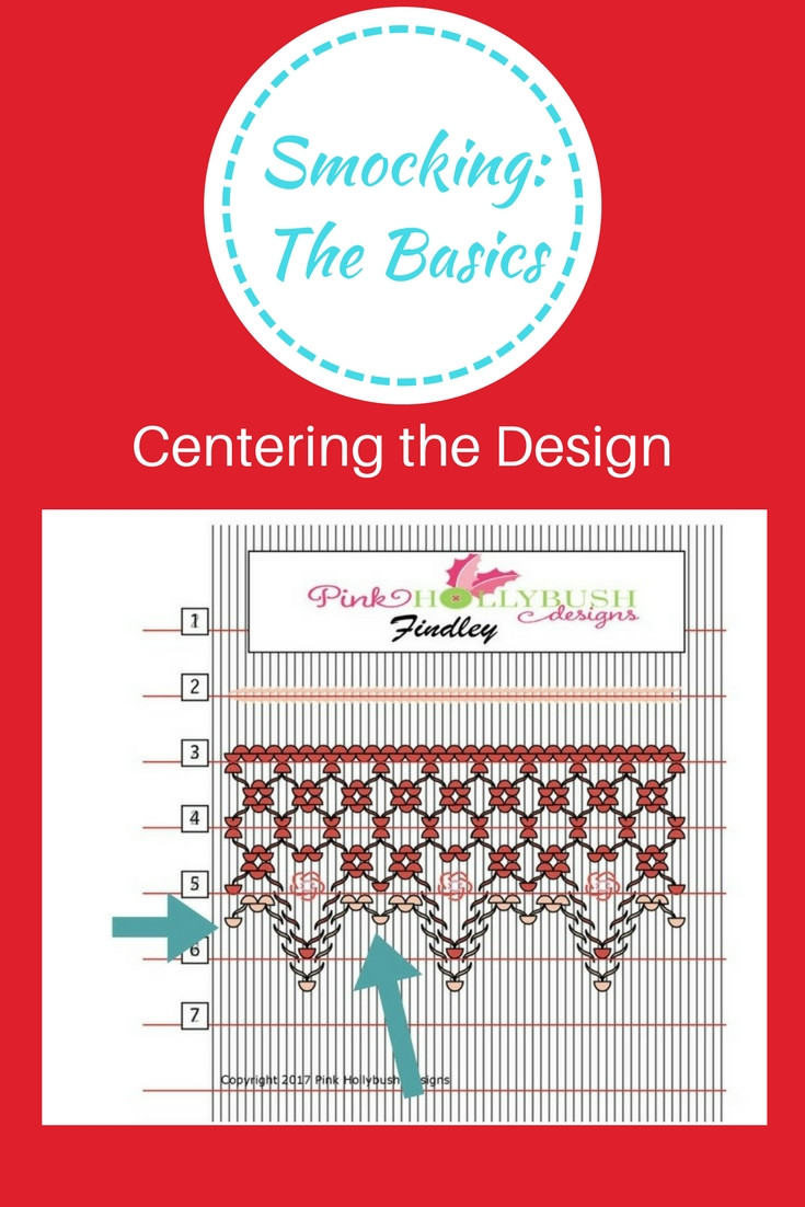 Centering the Smocking Design