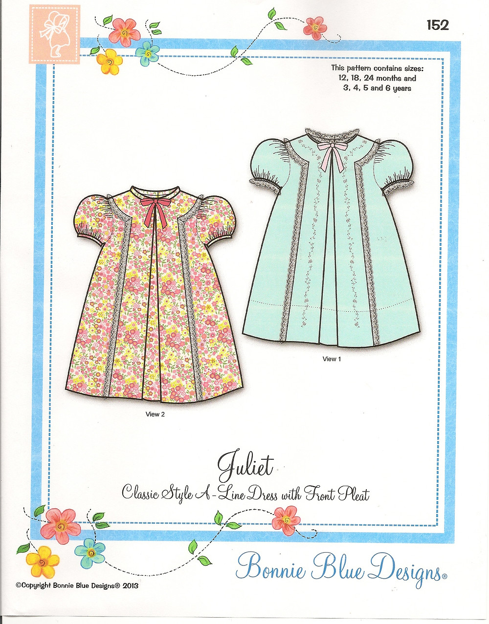 Juliet Dress Pattern available from Pink Hollybush Designs