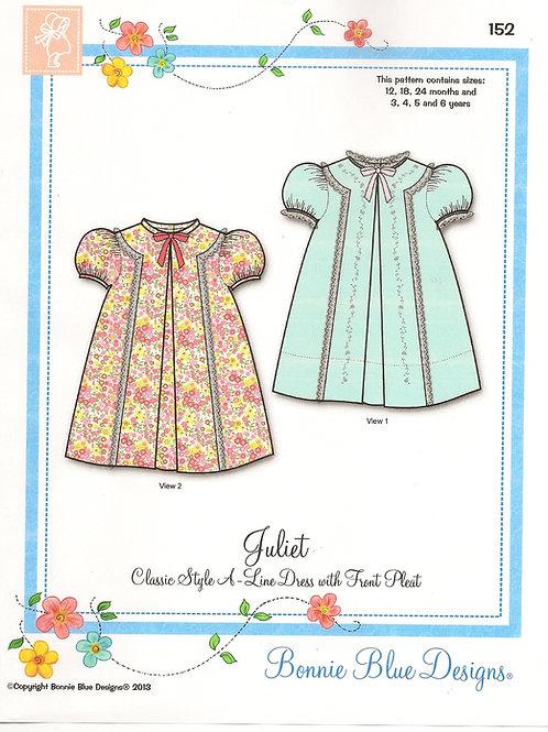 Juliet Girl's A-Line Dress Sewing Pattern by Bonnie Blue Designs