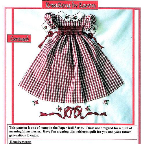 Paper Doll Quilt Carousel Block Pattern
