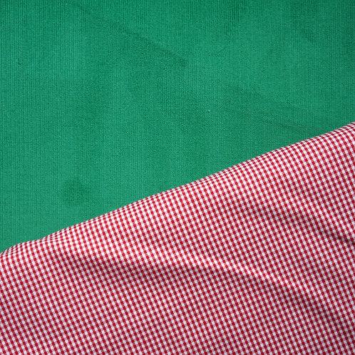 Green Cotton Fine-Wale Corduroy