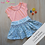 Thumbnail: Twirly Skirt Smocked or Gathered Printed Pattern