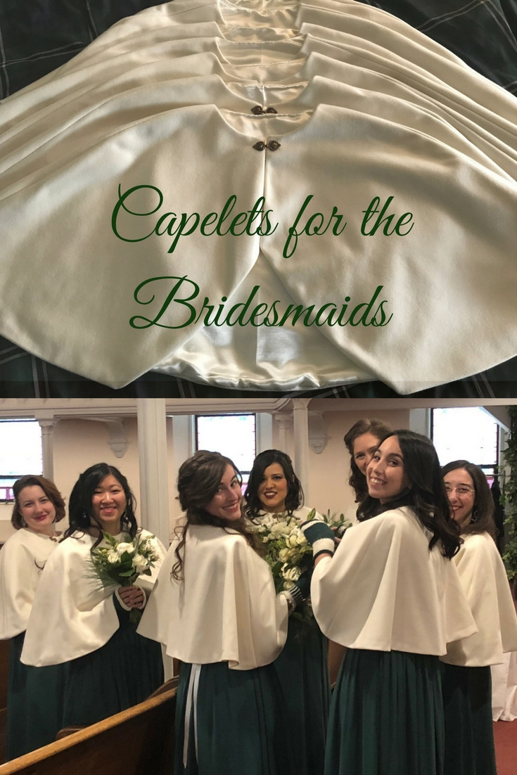 Capelets for the Bridesmaids