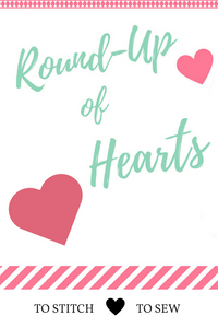 Round up of Hearts to stitch and sew 2017