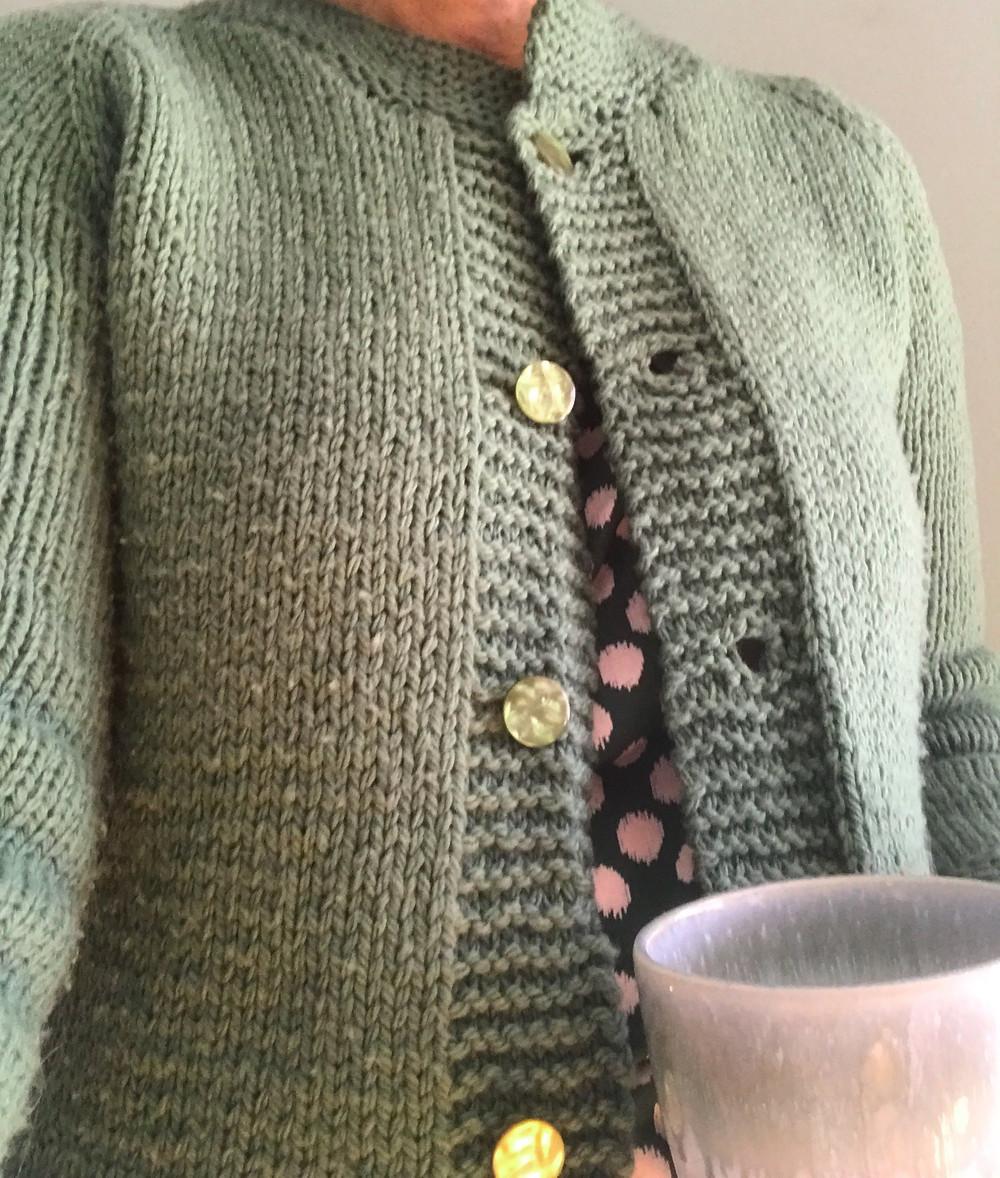 Trail Jacket knit cardigan.