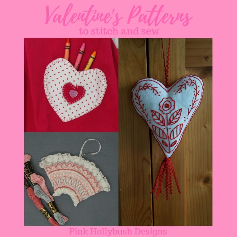 Valentine's Patterns to Stitch and Sew