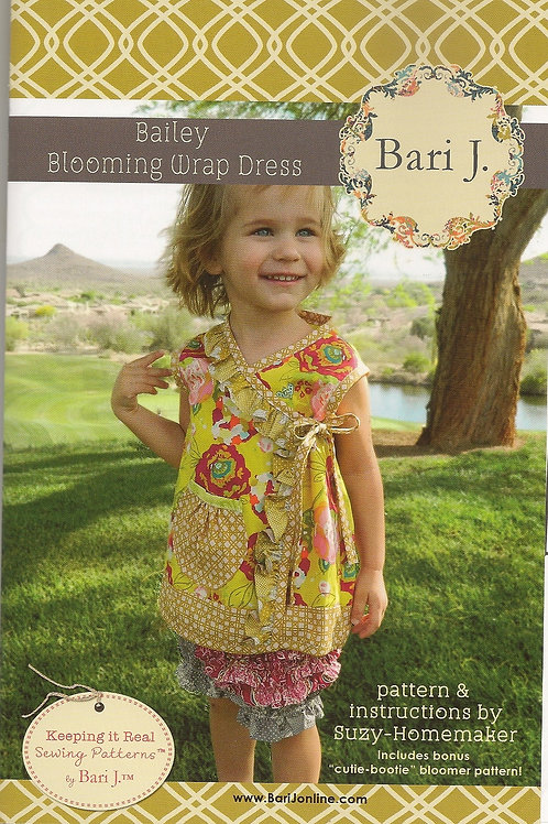 Baily Blooming Wrap Dress Girl's Sewing Pattern