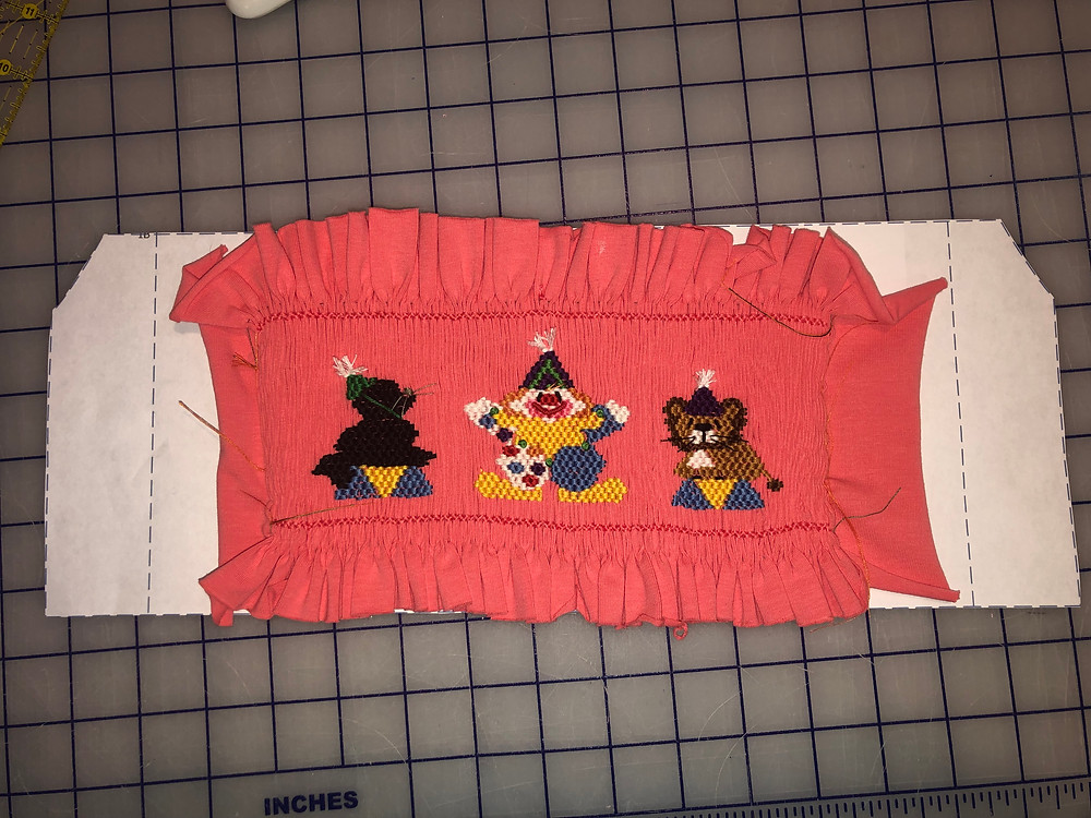 Oops – My smocked insert is not wide enough for the blocking guide.